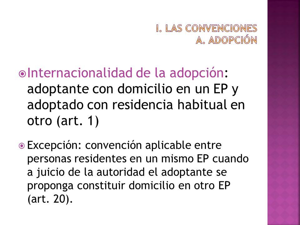 i. Las convenciones a. adopción