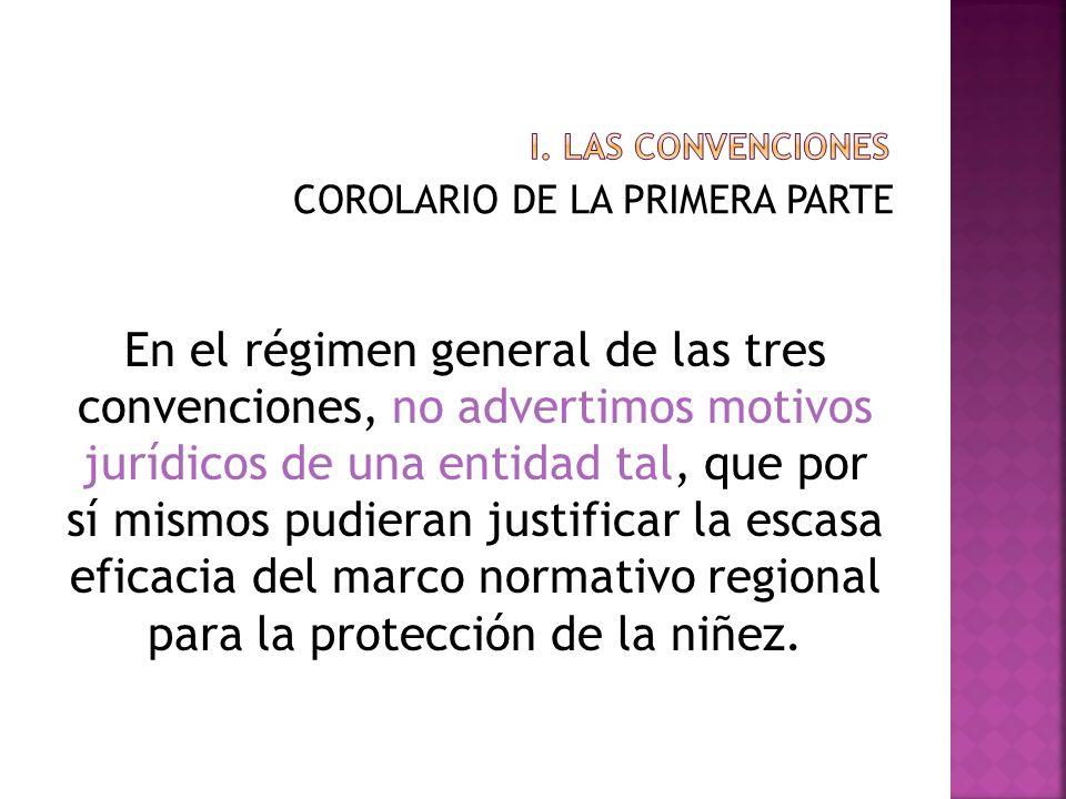 i. Las convenciones COROLARIO DE LA PRIMERA PARTE.