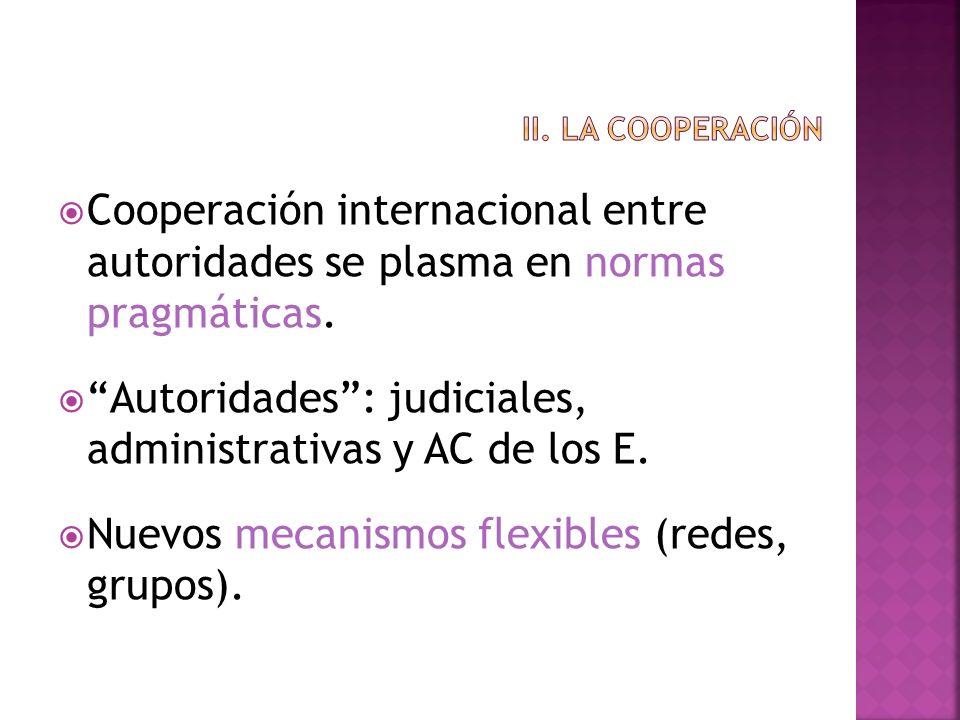 Autoridades : judiciales, administrativas y AC de los E.