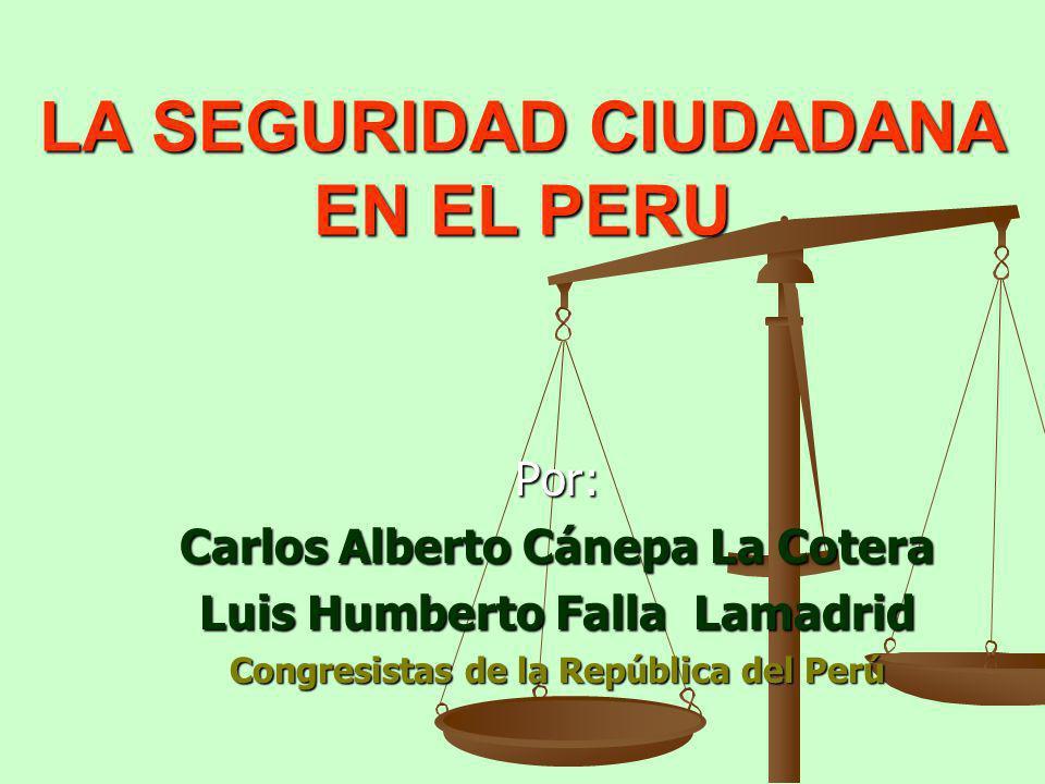 LA SEGURIDAD CIUDADANA EN EL PERU