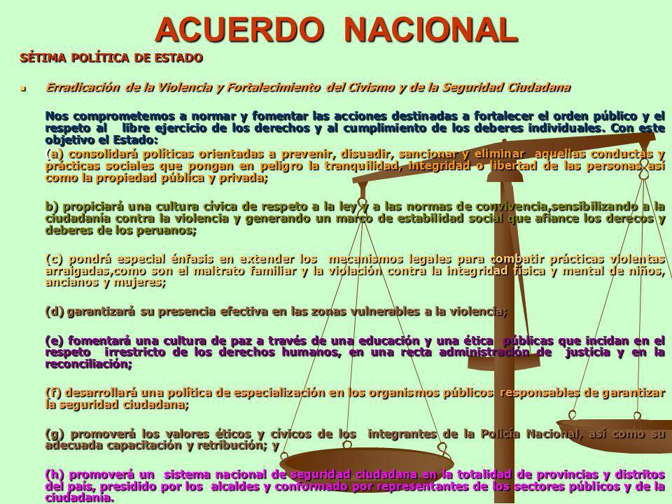 ACUERDO NACIONAL SÉTIMA POLÍTICA DE ESTADO