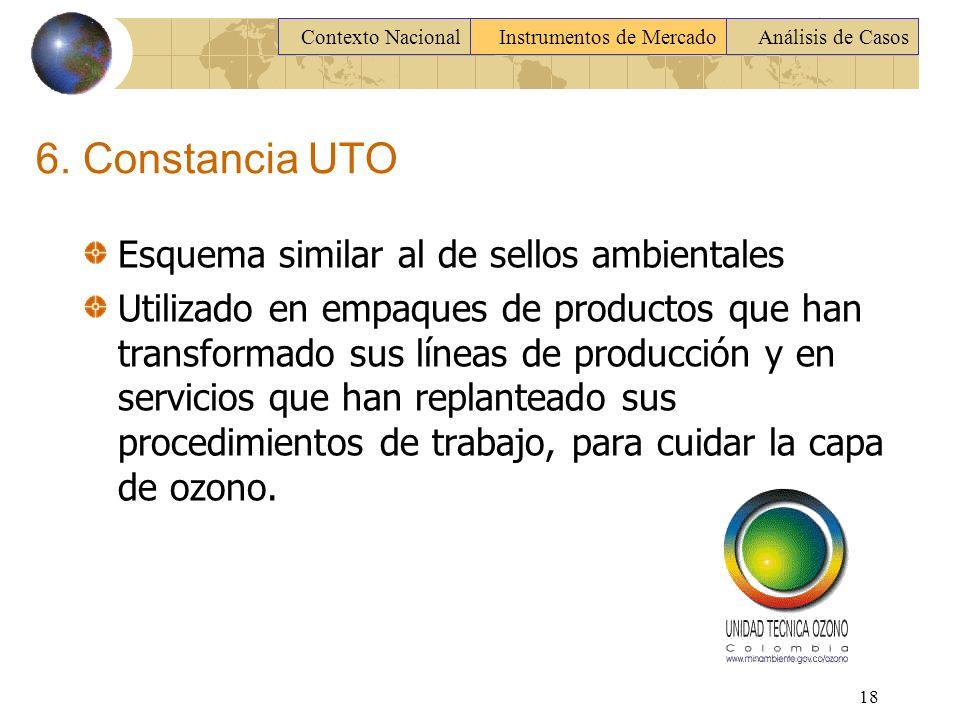 6. Constancia UTO Esquema similar al de sellos ambientales