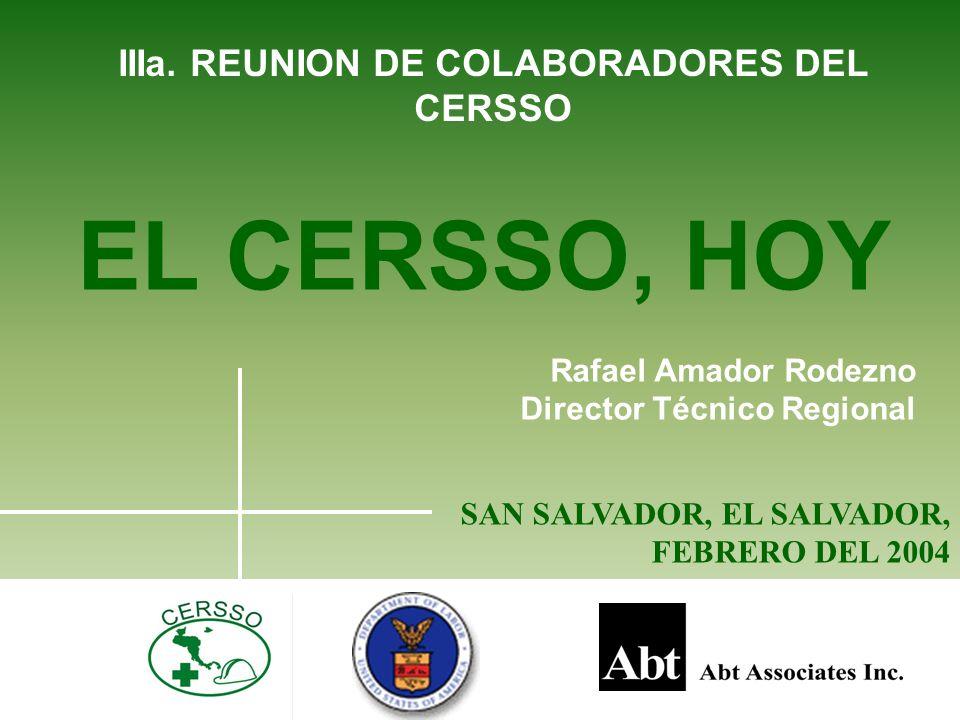 IIIa. REUNION DE COLABORADORES DEL CERSSO