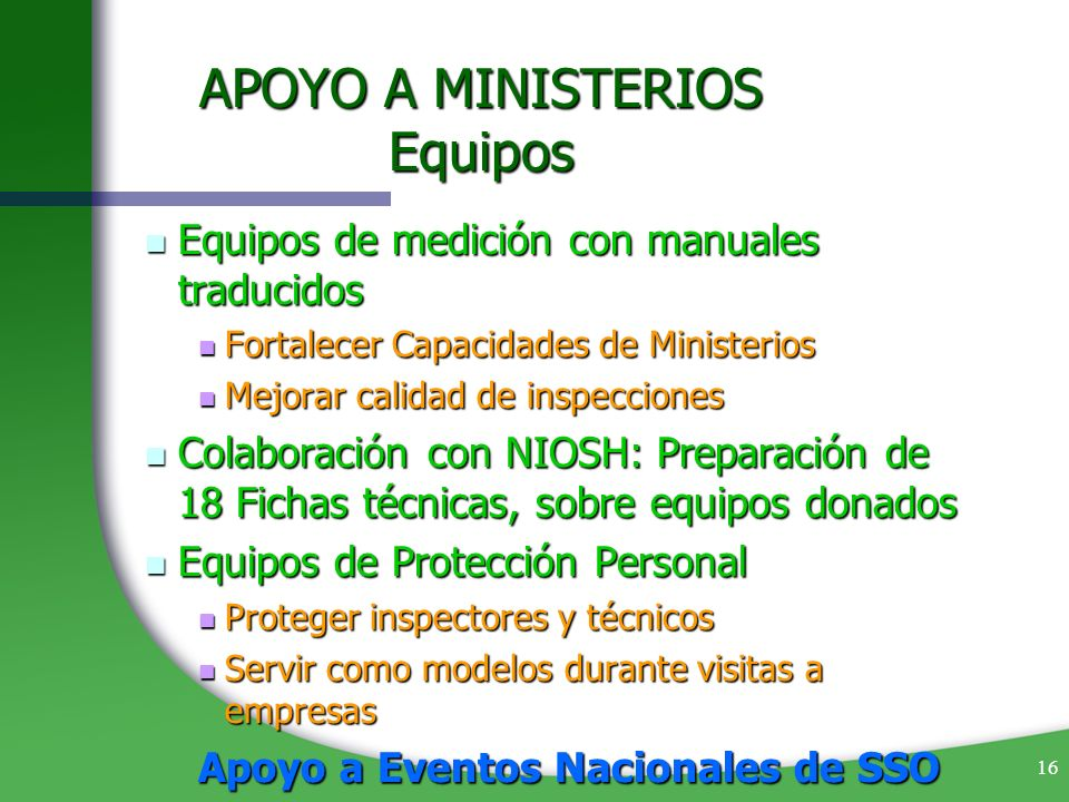 APOYO A MINISTERIOS Equipos