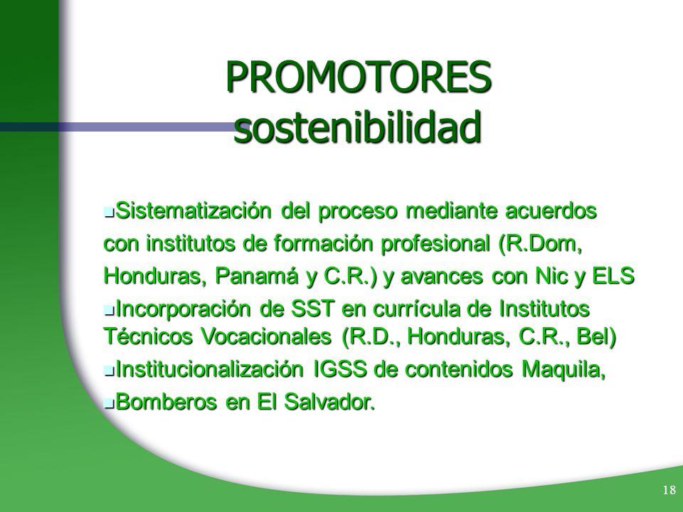 PROMOTORES sostenibilidad