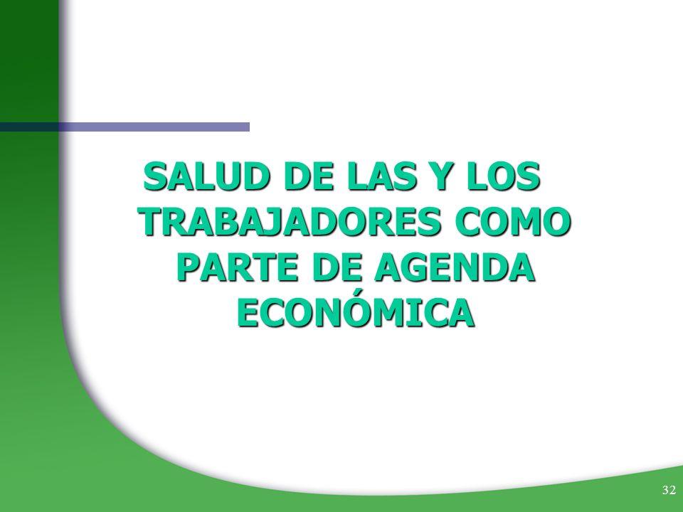 SALUD DE LAS Y LOS TRABAJADORES COMO PARTE DE AGENDA ECONÓMICA