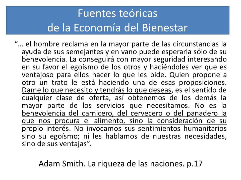 Fuentes teóricas de la Economía del Bienestar