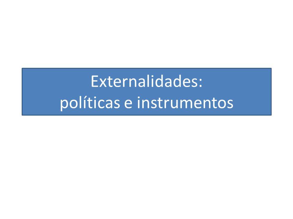 Externalidades: políticas e instrumentos