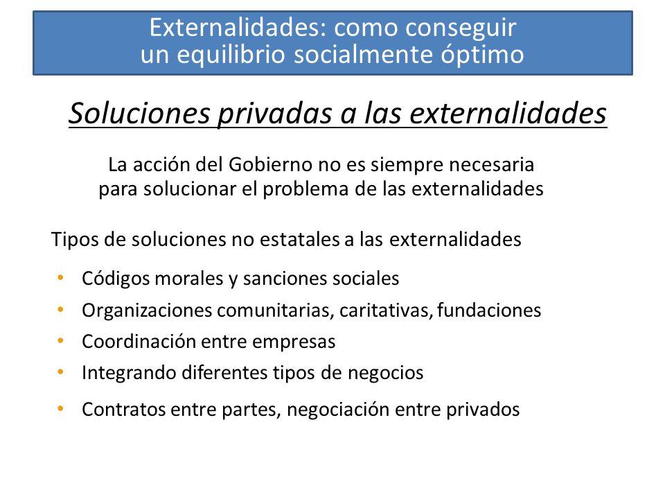 Soluciones privadas a las externalidades