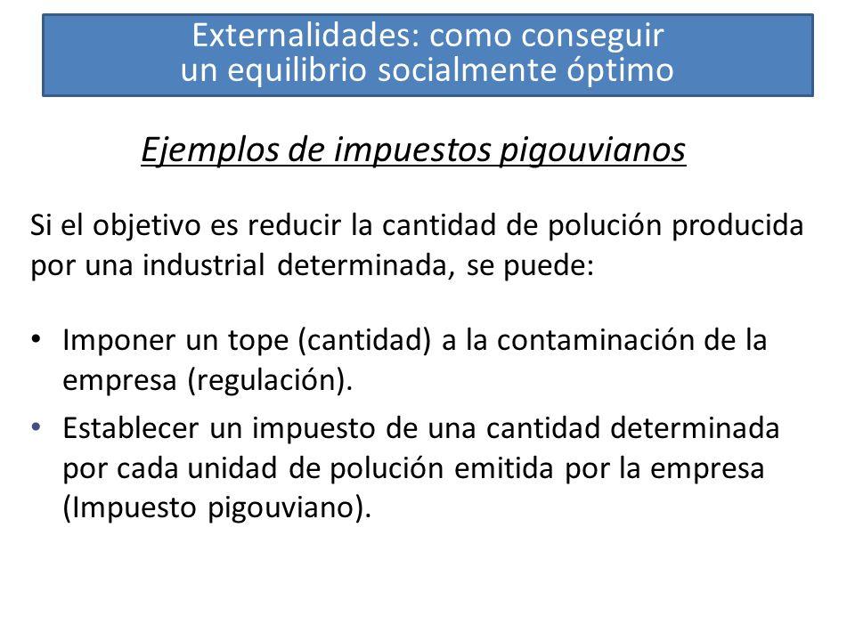 Ejemplos de impuestos pigouvianos