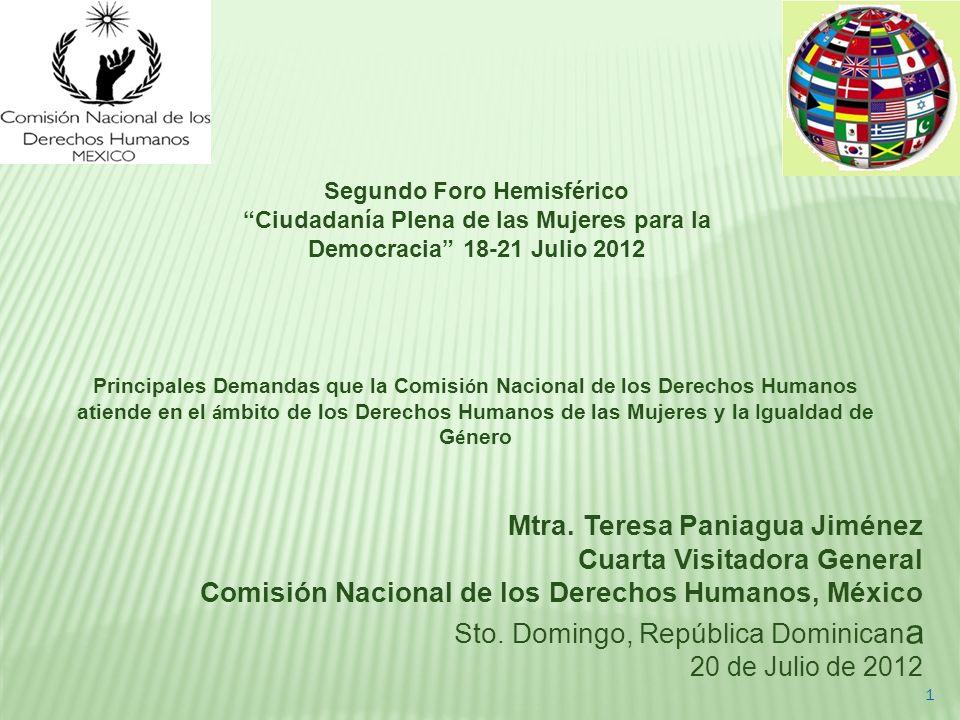 Ciudadanía Plena de las Mujeres para la Democracia 18-21 Julio 2012