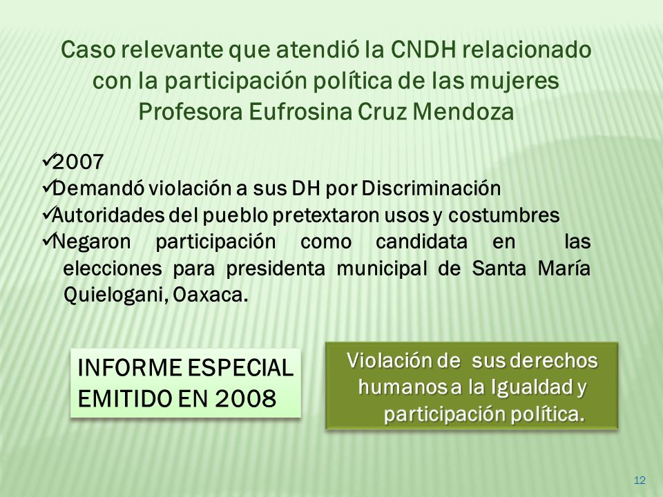 Profesora Eufrosina Cruz Mendoza