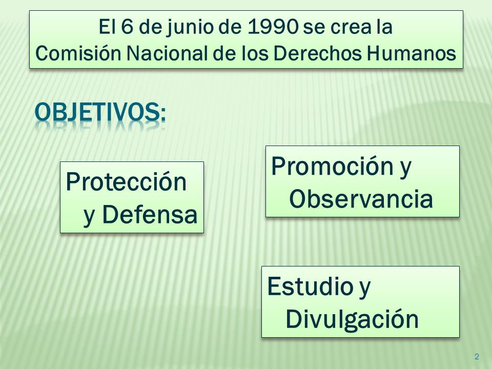Promoción y Observancia Protección y Defensa