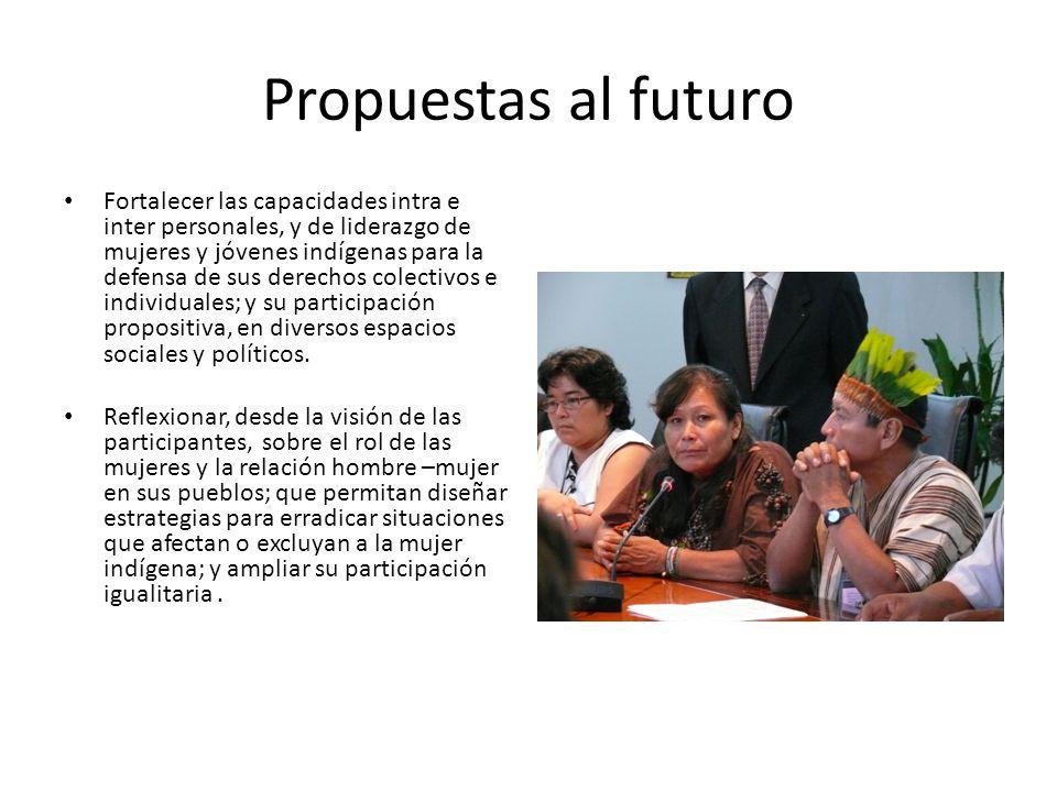 Propuestas al futuro