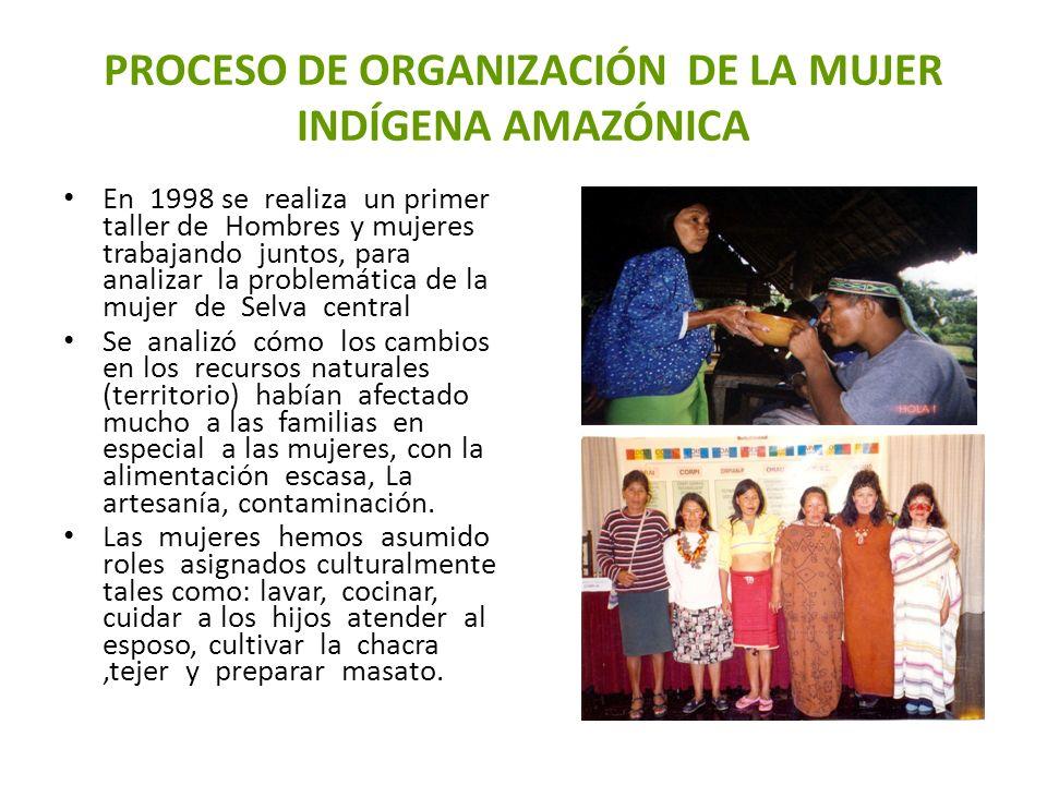 PROCESO DE ORGANIZACIÓN DE LA MUJER INDÍGENA AMAZÓNICA