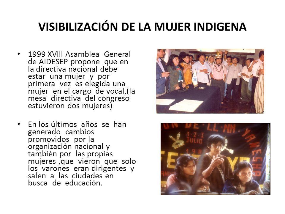 VISIBILIZACIÓN DE LA MUJER INDIGENA
