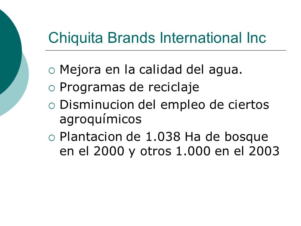 Chiquita Brands International Inc
