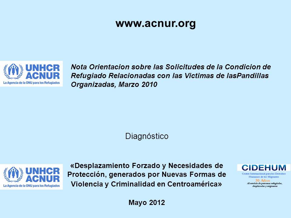 www.acnur.org Diagnóstico