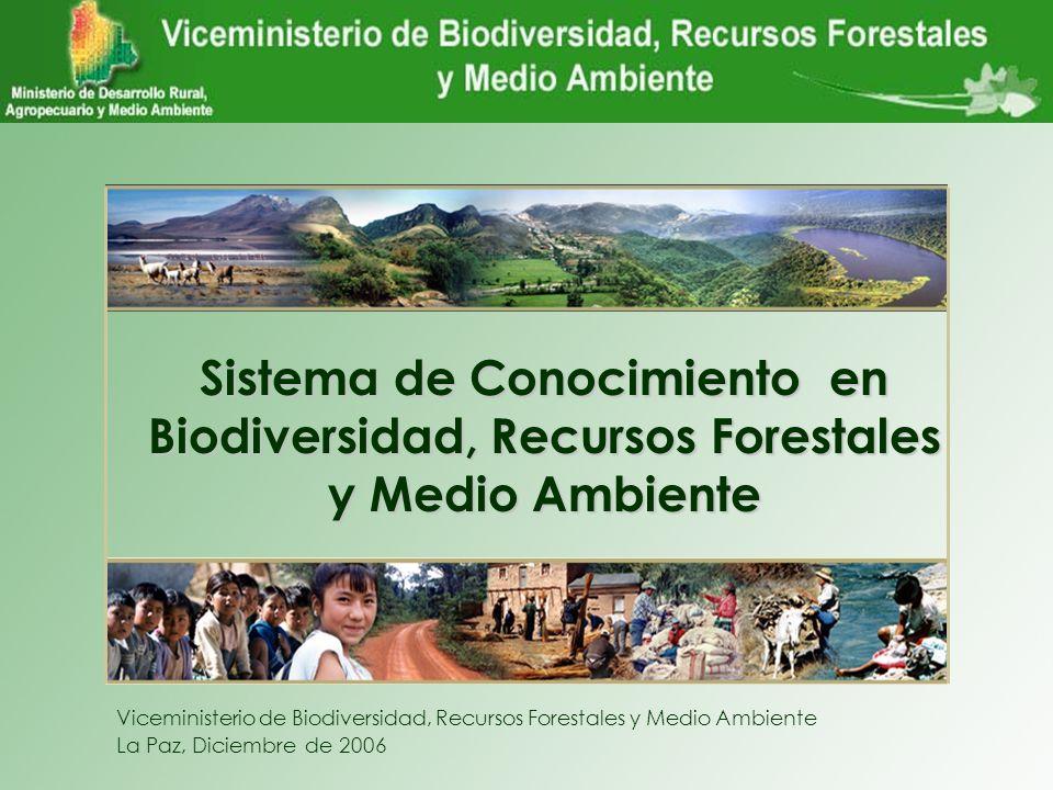 Sistema de Conocimiento en Biodiversidad, Recursos Forestales