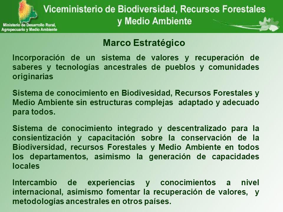 Marco Estratégico Incorporación de un sistema de valores y recuperación de saberes y tecnologías ancestrales de pueblos y comunidades originarias.