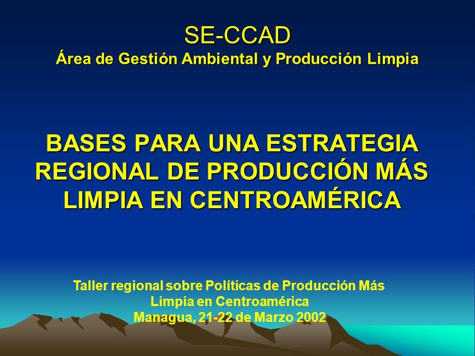 SE-CCAD Área de Gestión Ambiental y Producción Limpia