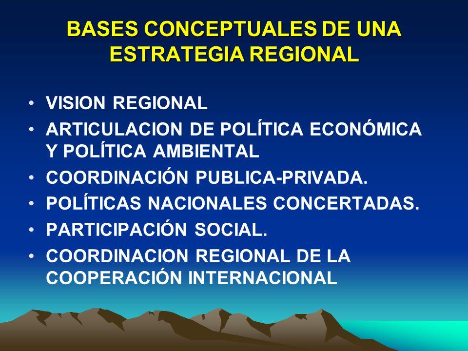 BASES CONCEPTUALES DE UNA ESTRATEGIA REGIONAL