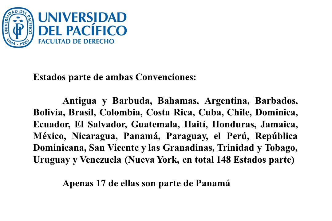 Estados parte de ambas Convenciones: