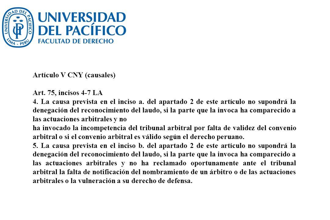 Artículo V CNY (causales)
