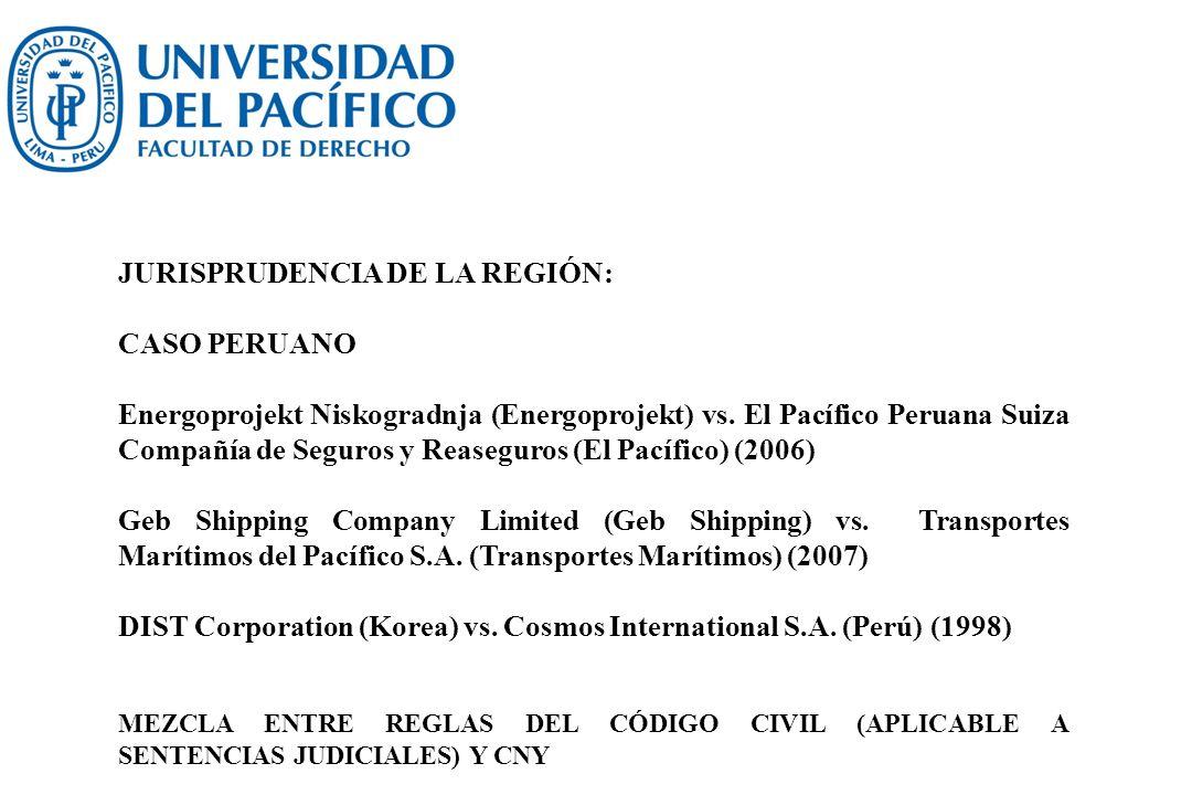 JURISPRUDENCIA DE LA REGIÓN: CASO PERUANO