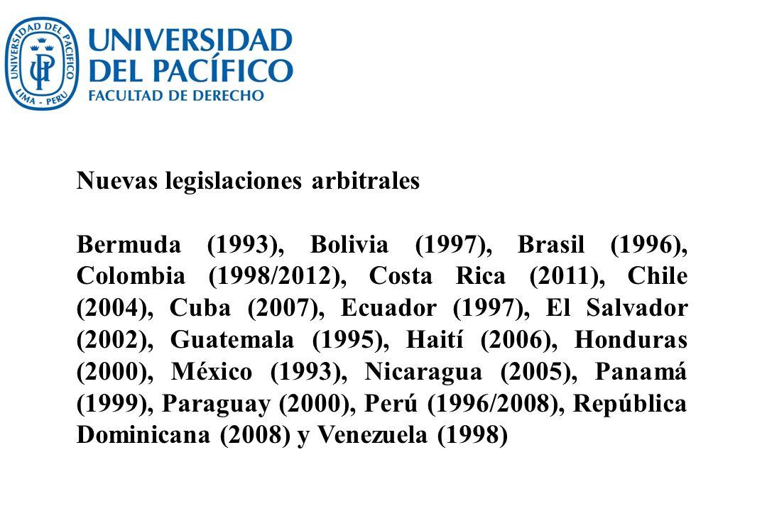 Nuevas legislaciones arbitrales