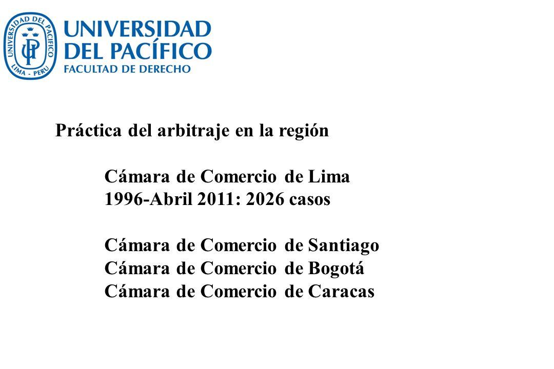 Práctica del arbitraje en la región