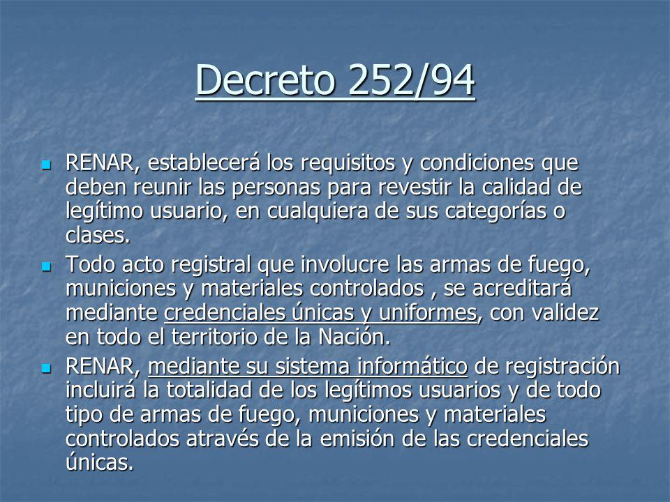 Decreto 252/94