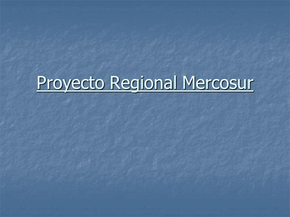 Proyecto Regional Mercosur