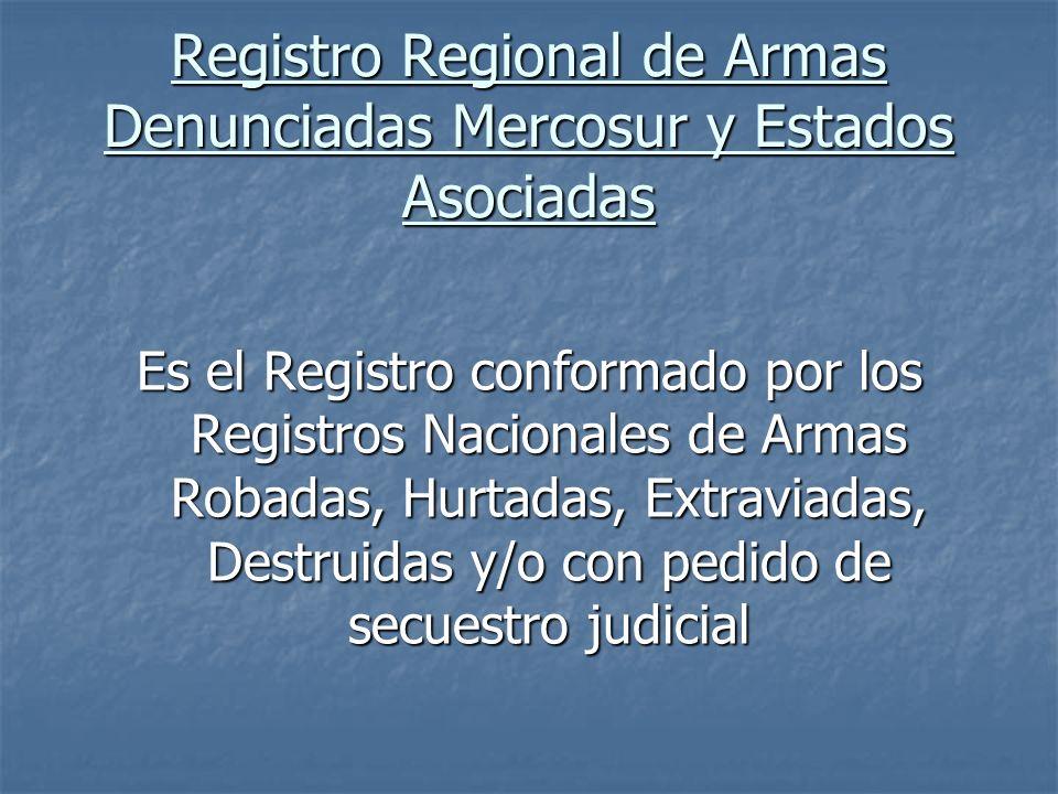 Registro Regional de Armas Denunciadas Mercosur y Estados Asociadas