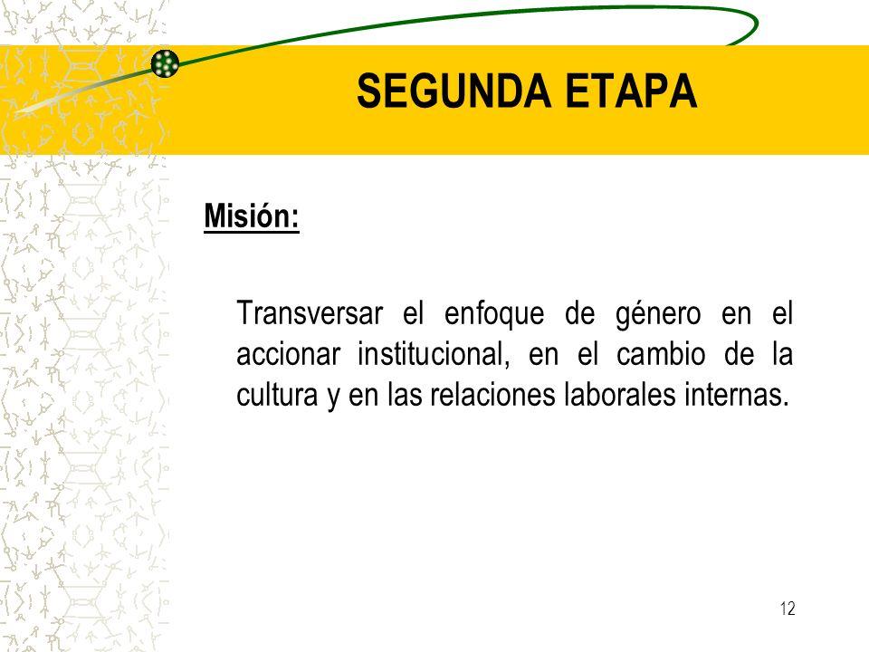 SEGUNDA ETAPA Misión: