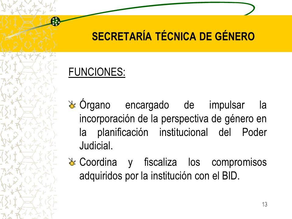 SECRETARÍA TÉCNICA DE GÉNERO