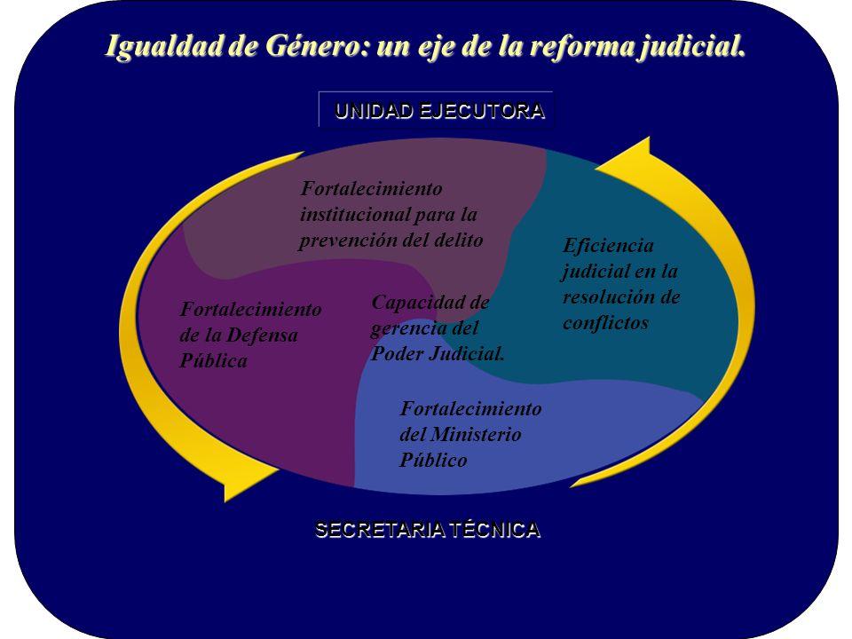 Igualdad de Género: un eje de la reforma judicial.