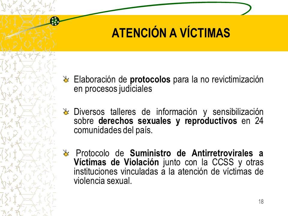 ATENCIÓN A VÍCTIMAS Elaboración de protocolos para la no revictimización en procesos judiciales.