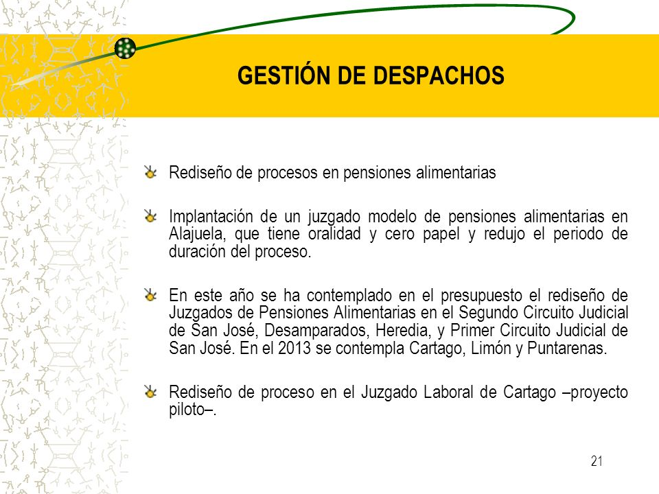 GESTIÓN DE DESPACHOS Rediseño de procesos en pensiones alimentarias