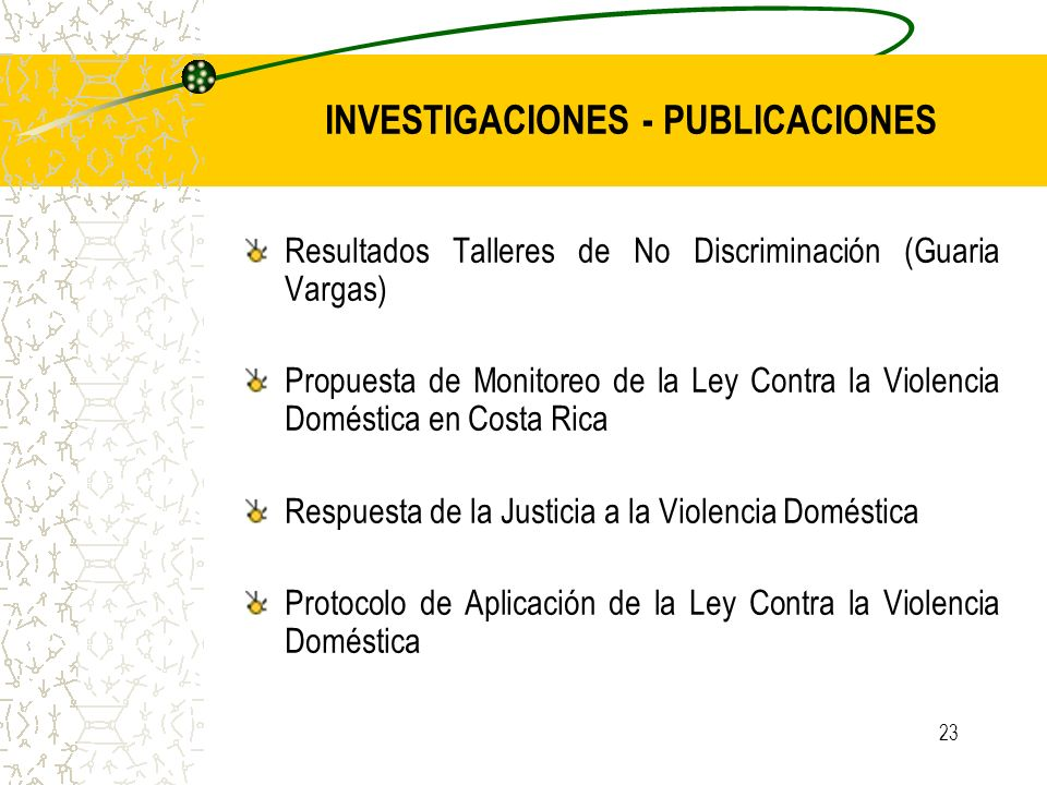 INVESTIGACIONES - PUBLICACIONES