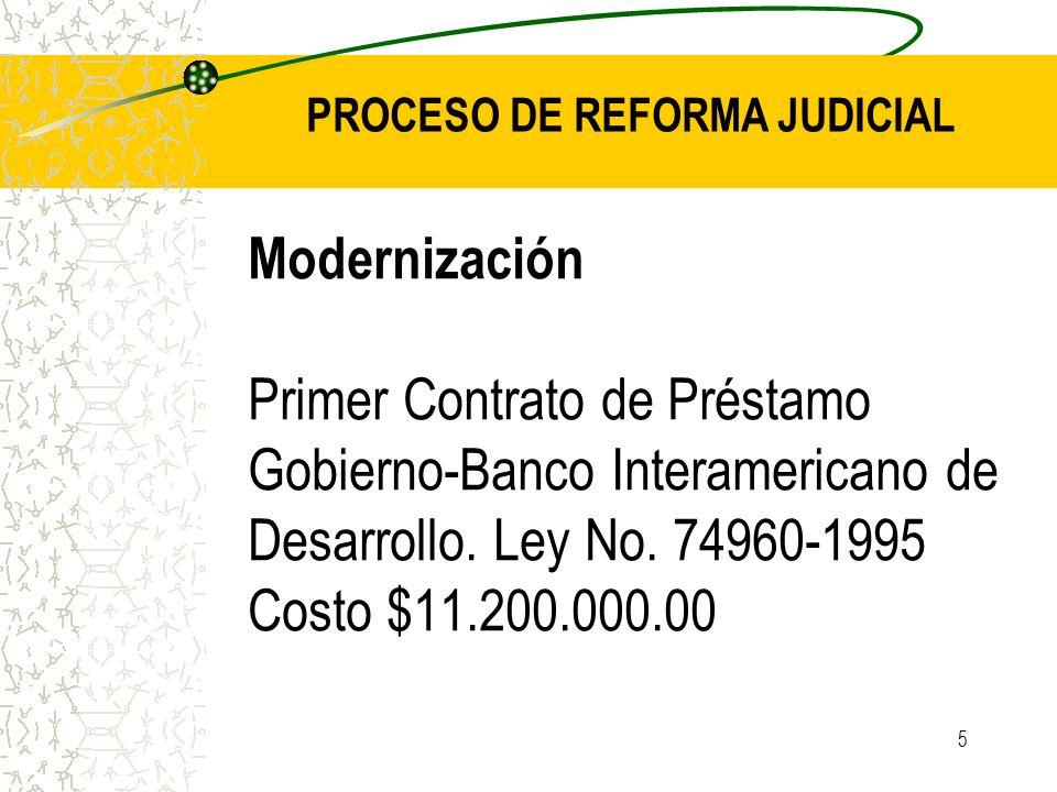 PROCESO DE REFORMA JUDICIAL