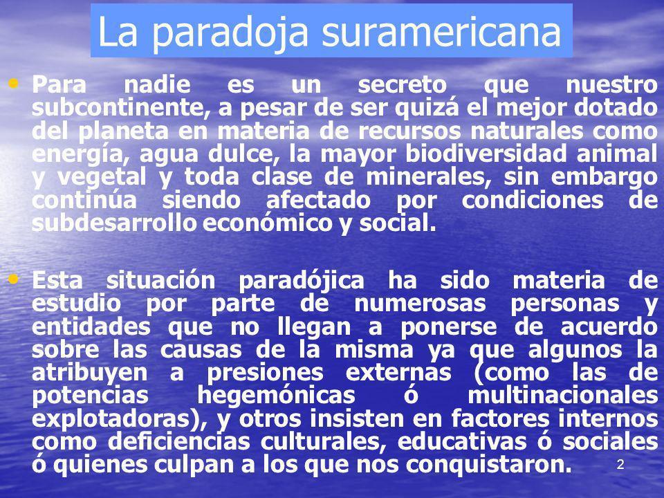 La paradoja suramericana
