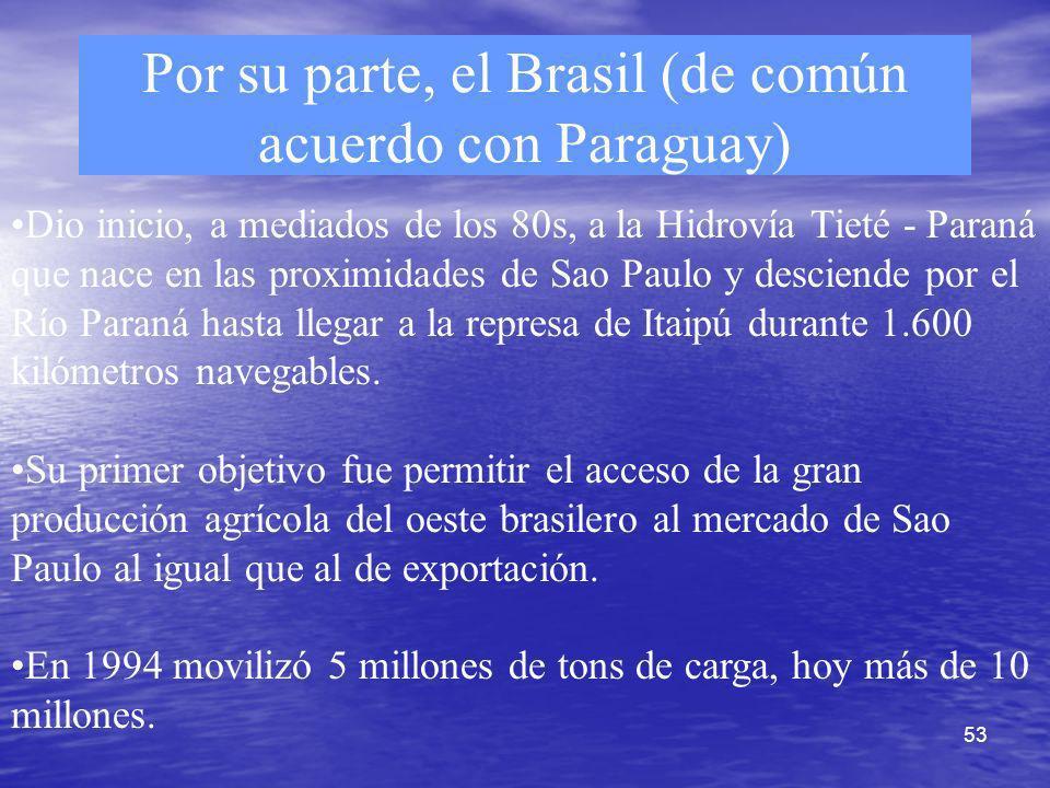 Por su parte, el Brasil (de común acuerdo con Paraguay)