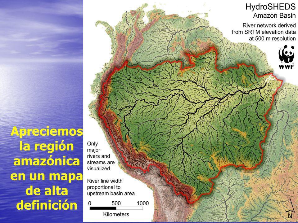 Apreciemos la región amazónica en un mapa de alta definición