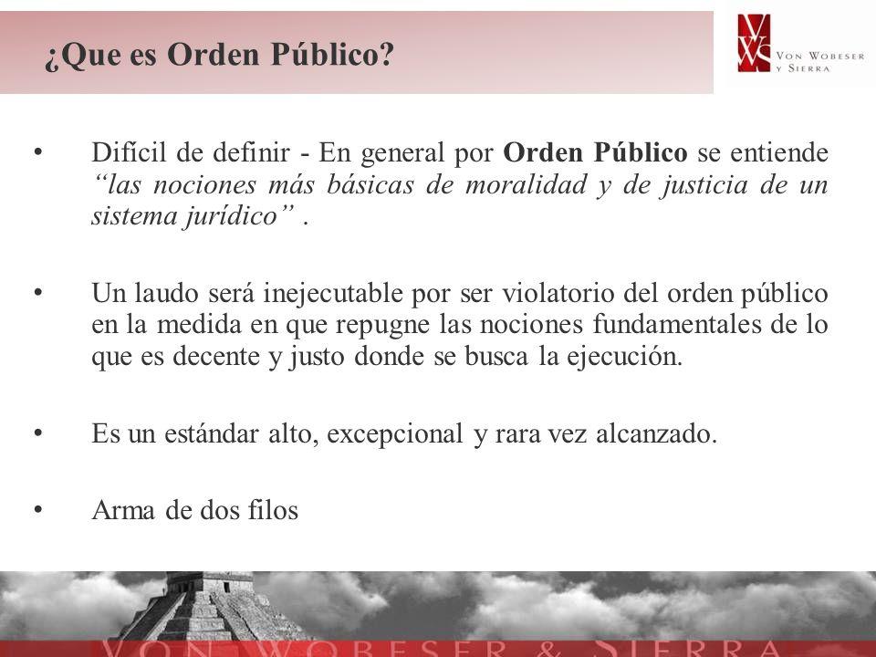 ¿Que es Orden Público