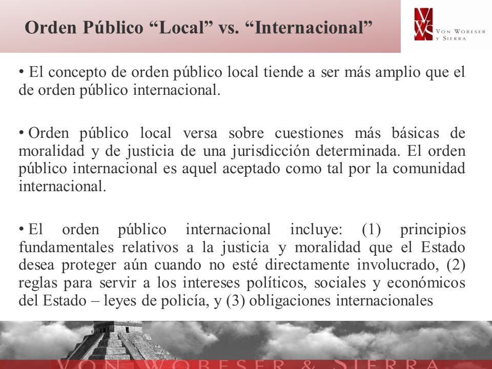 Orden Público Local vs. Internacional