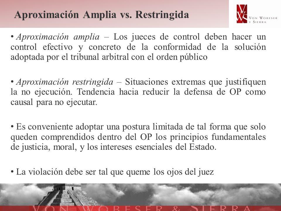 Aproximación Amplia vs. Restringida