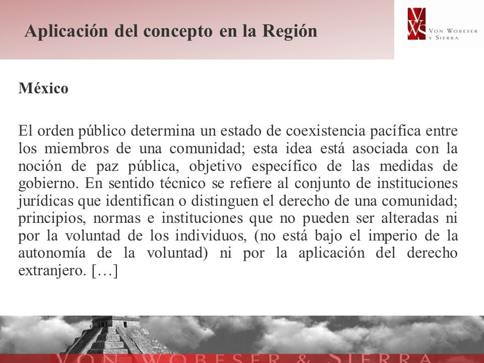 Aplicación del concepto en la Región