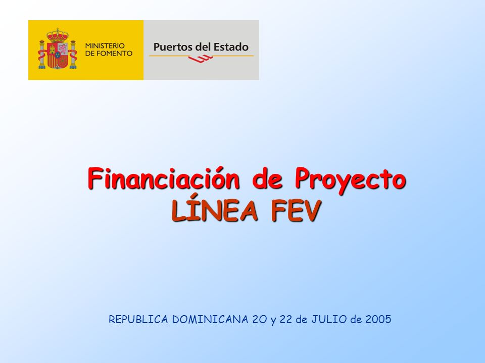 Financiación de Proyecto LÍNEA FEV
