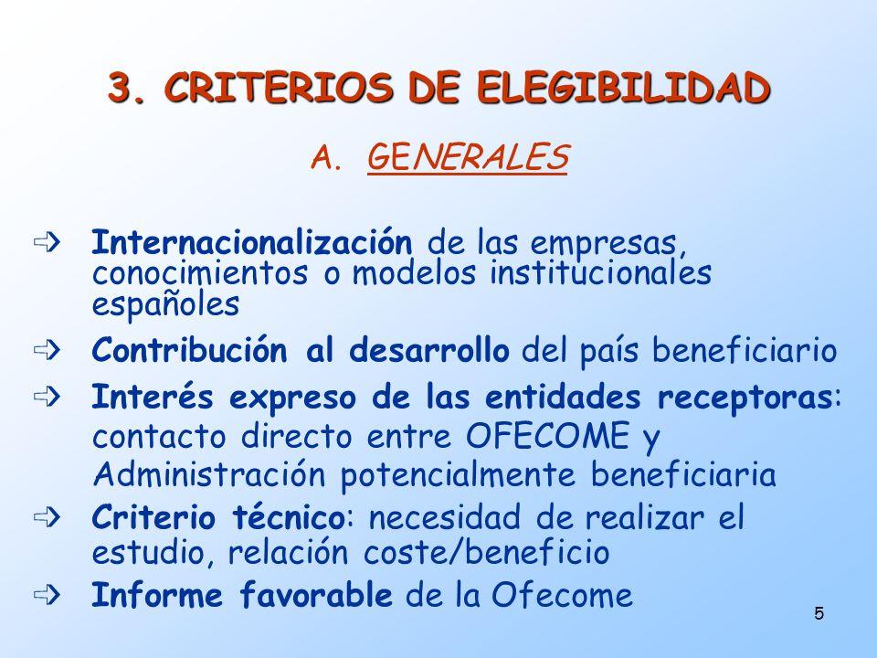 3. CRITERIOS DE ELEGIBILIDAD
